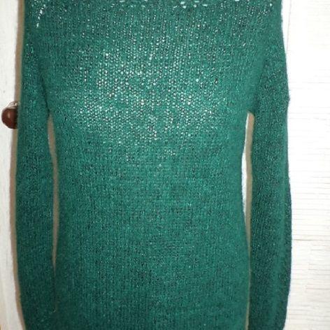 Sweter z jedwabiem zieleń szmaragdowa