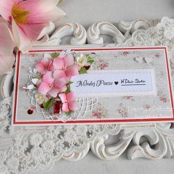 Ślubna kartka DL w pudełku 82