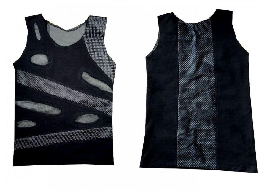 Bluzka industrial czarna z siatką