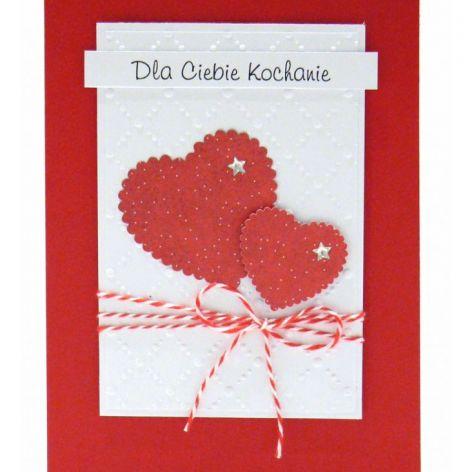 Kartka dla kochanej osoby - czerwone serca