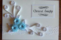 Quilling kartka na Chrzest Święty