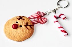 Świateczny breloczek: ciastko-Rudolf