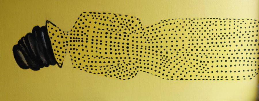Czarno na żółtym