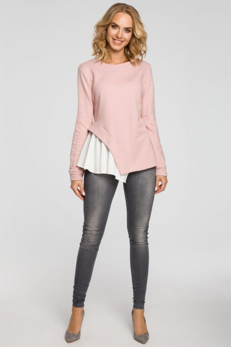 Dwuwarstwowa bluzka z asymetrią