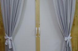 Kpl Szare zasłony 80x150 *biało-szara*