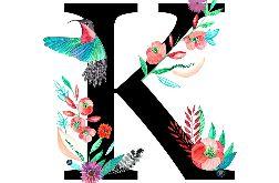 Alfabet K wydruk ilustracji