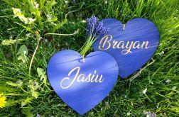 Drewniane chabrowe serce z imieniem