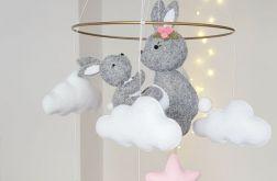 Baby mobile, karuzela nad łóżeczko, królik