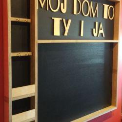 "Tablica na magnesy ""Mój dom to Ty i ja""12"