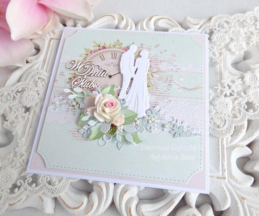 Ślubna kartka w pudełku 219