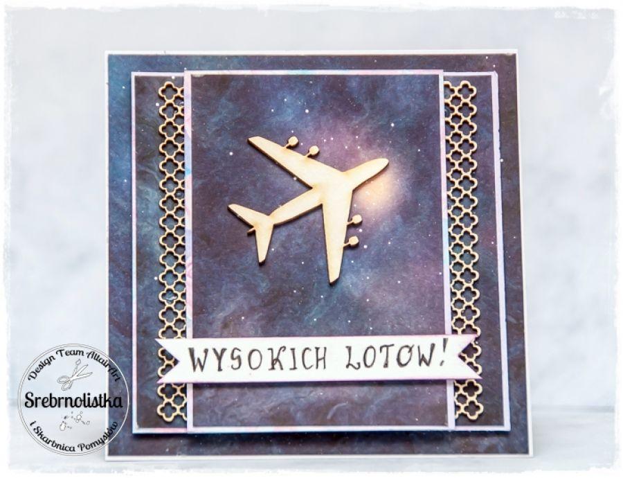 Kartka urodzinowa z samolotem (na zamówienie)