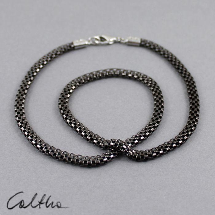 Wężowy - naszyjnik - Metalowy łańcuszek
