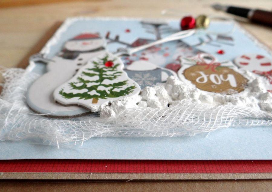 Kartka świąteczna BAŁWAN SHAKER #2 - Detal1