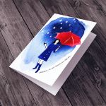 po deszczu TĘCZA... kartka na życzenia -