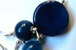 Delikatna biżuteria z granatowymi agatami