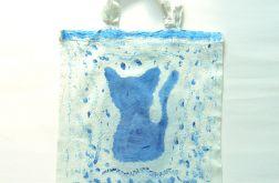 Bawełniana torba serce i kot dwa wzory nr 2