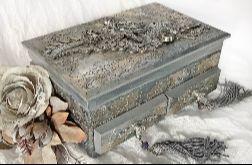 Toaletka, szkatułka, pudełko w srebrze