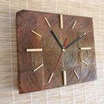 Zegar drewniany stojący Kostka -