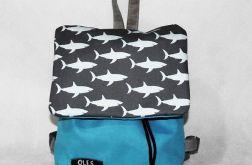 Plecak do przedszkola w rekiny