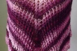 Ponczo dziergane na szydełku bawełna
