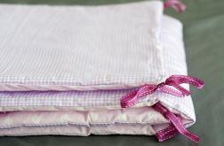 Ochraniacz do łóżeczka różowe pastele