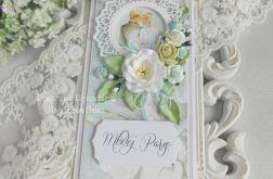 Ślubna kartka DL w pudełku 66