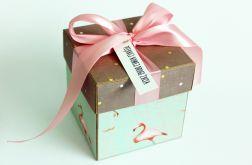 Pudełko na ślub flamingi