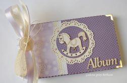 Album fioletowy dla dziecka 11x18 cm