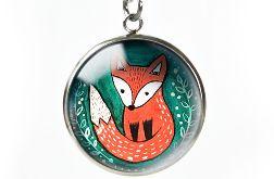 Lis naszyjnik z ilustracją