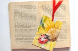 Vintage zakładka do książki z biedronką