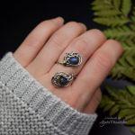 Regulowany pierścionek niebieski labradoryt - Unikatowy dodatek