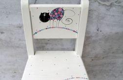 krzesełko z oparciem kotek