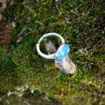 Zatopek pierścionek błękitne niezapominajki - 3