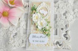 Ślubna kartka DL w pudełku 123