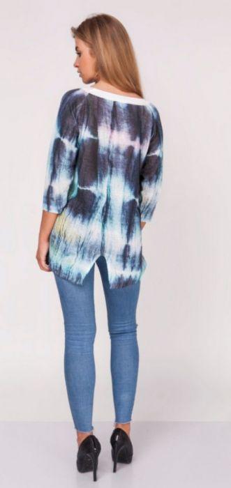 Letni kolorowy sweterek cieniowany,ombre