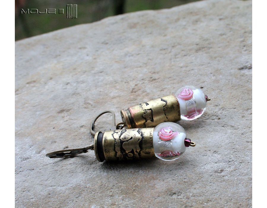 Kaliber różany - mosiężne kolczyki