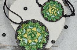 Komplet biżuterii Anahata - wisiorek i bransoletka czakry serca