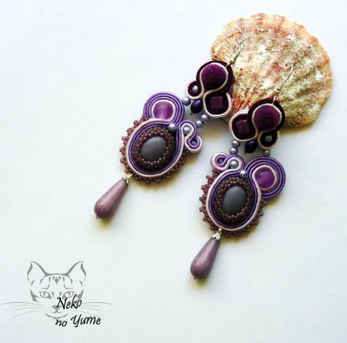 Lillandrum- kolczyki sutasz fiolet i lawenda