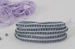 Snake wrap fiolet z kryształkami