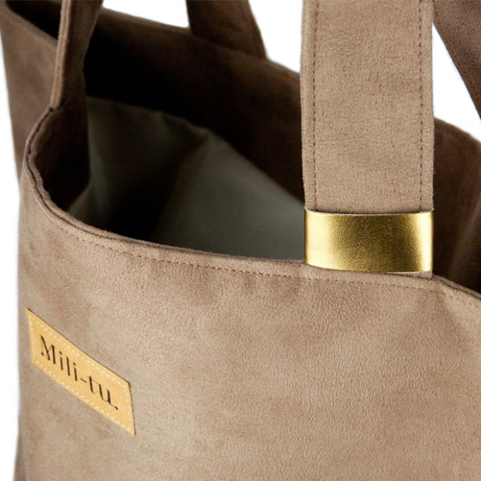 Duża torba Mili Chic MC2 gold/brown