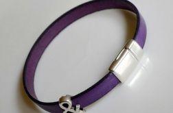 minimalistyczna skórzana fiolet + &
