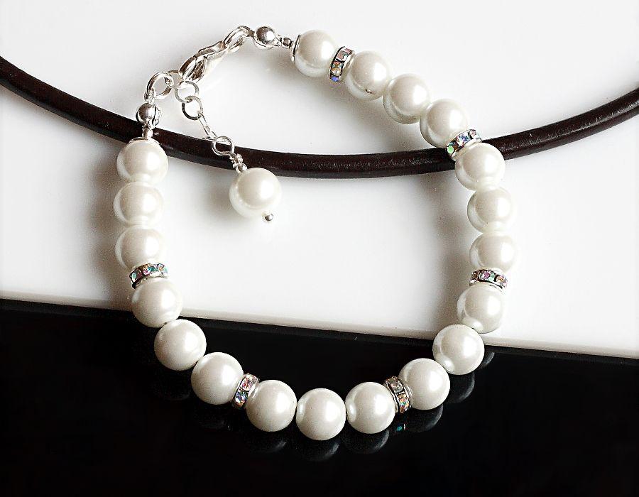 Perły Seashell - bransoletka - bransoletka z pereł