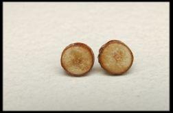 Kolczyki drewniane wkrętki 2