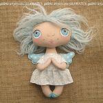 ANIOŁEK lalka - dekoracja tekstylna, OOAK /09 - tak wyglądam w całości