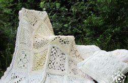 Pled szydełkowy patchwork Multi wzór