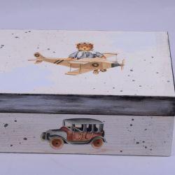 Kuferek dziecięcy mały MIŚ W CHMURACH