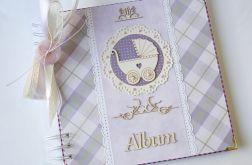 Album fioletowy dla dziecka 20x20 cm