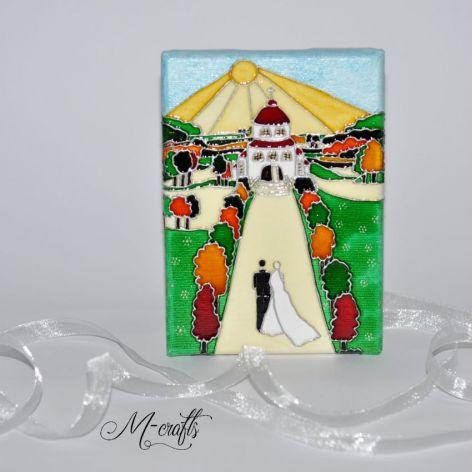 Nowa Droga...Kartka ślubna na płótnie