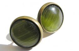 Zielone kolczyki - szkiełka