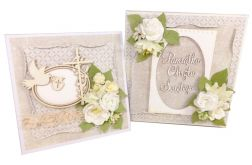 Komplet -kartka + pudełko na chrzest - #587